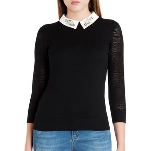 Ted Baker Embellished Collared Sweater